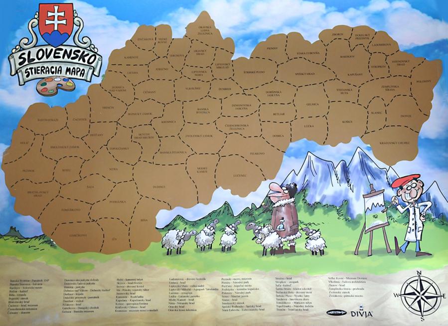 Stieracia mapa Slovensko